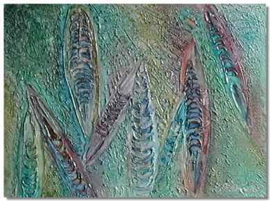 Fossil 2 - acrylic on box canvas