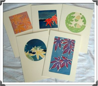 Maria Gunn Silk Cards