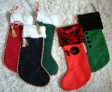 Faux fur topped Christmas stockings
