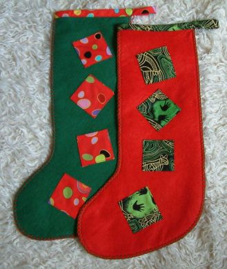 Red or green felt stocking